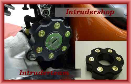 Zündschloß Abdeckung Alu Bullet schwarz ignition lock cover Black Intruder M1500