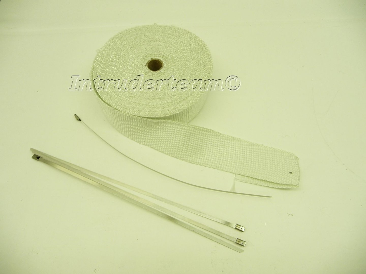 EXHAUST WRAP, WHITE 15 meter