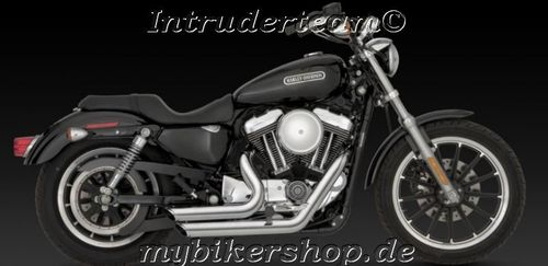 Exhaust System Vance & Hines Shortshots Staggered chrom Sportster