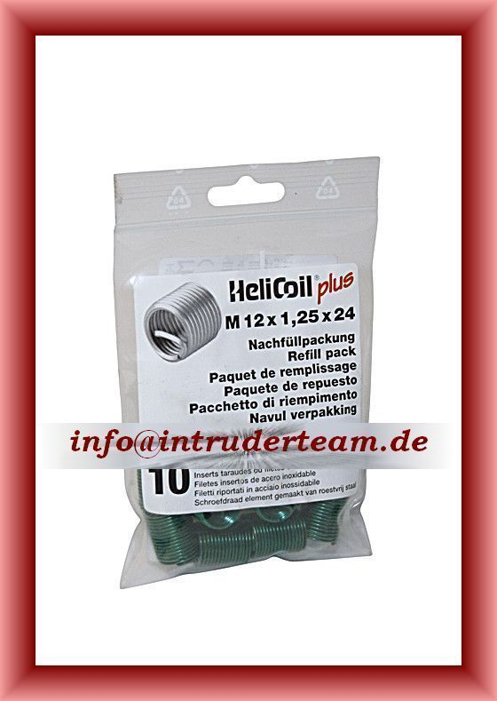 HeliCoil plus  M 12 x 1,25 x 24 mm; refill pack with 10 thread inserts