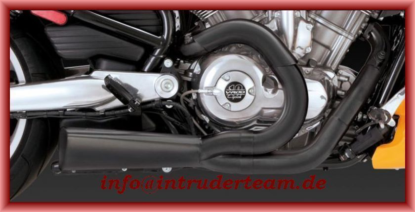 Vance &, Hines Competition 2in1 black Harley Davidson V-Rod