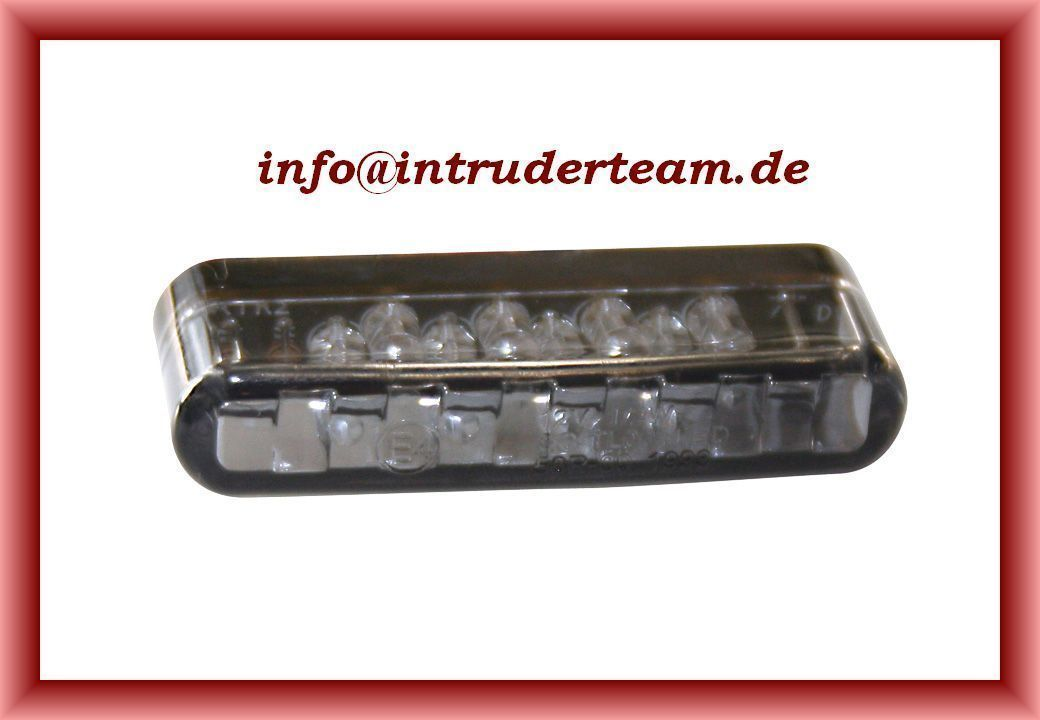 Blinker  LED SHORTY Einbaublinker getöntes  Glas univ. Intruder Harley etc.