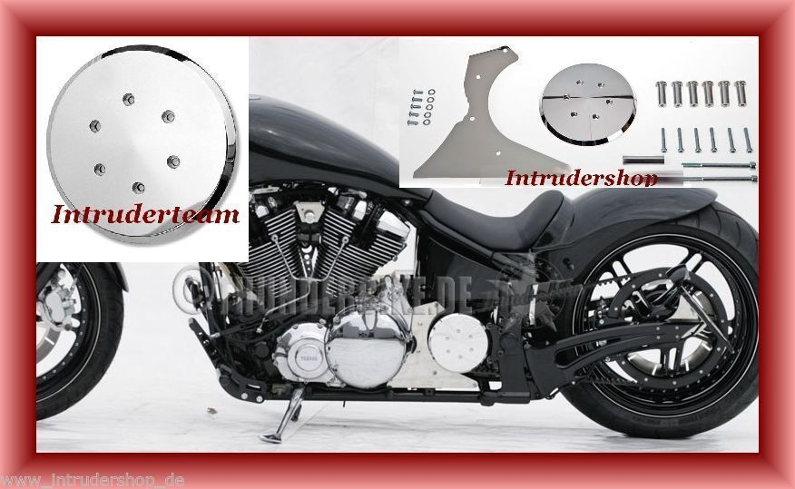 Pulley Cover (offset)  FREESTYLE SMOOTH Getriebeabdeckung Alu pol. Yamaha XV1600