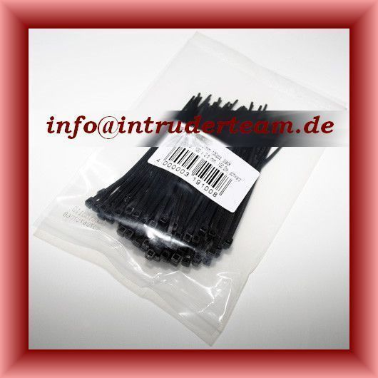 cable ties, 150mm x 3.7mm, 100 pcs., black