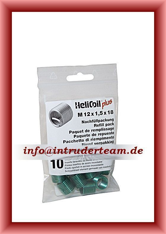 HeliCoil plus  M 12 x 1,5 x 18 mm; refill pack with 10 thread inserts