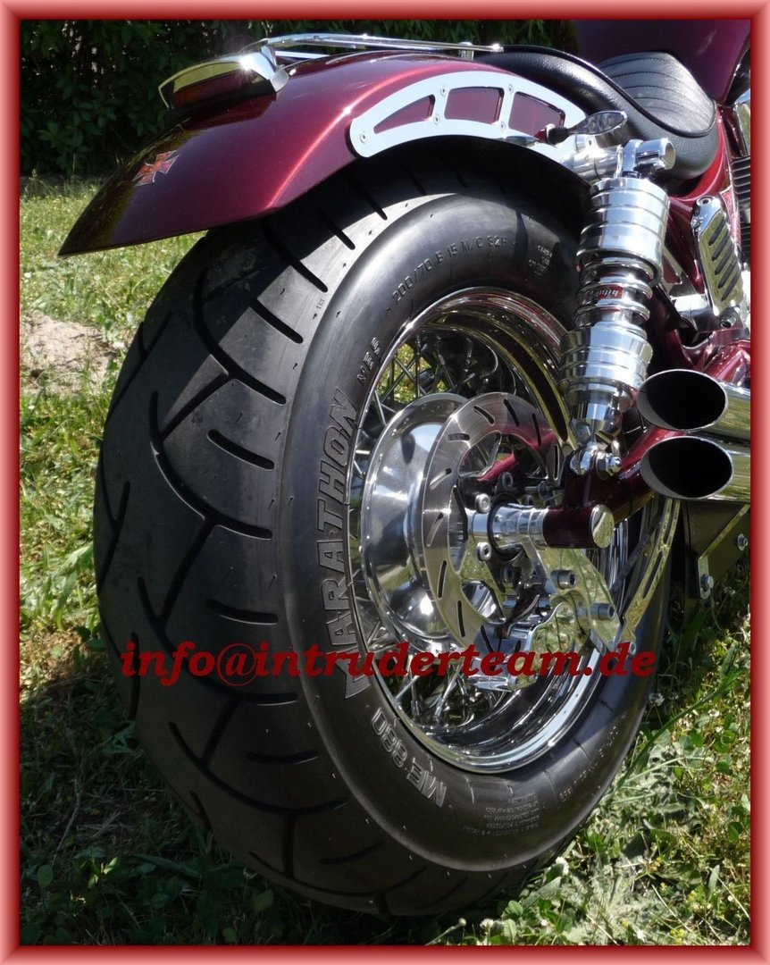 Rear Wheel 6x15 complete with 200 Tyre for Intruder VS1400
