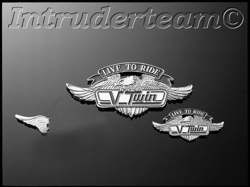 Emblem V-twin Ltr Small 55mm Zink
