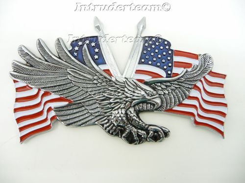 Emblem USA Adler Doppel Flagge Large 70 x 110mm