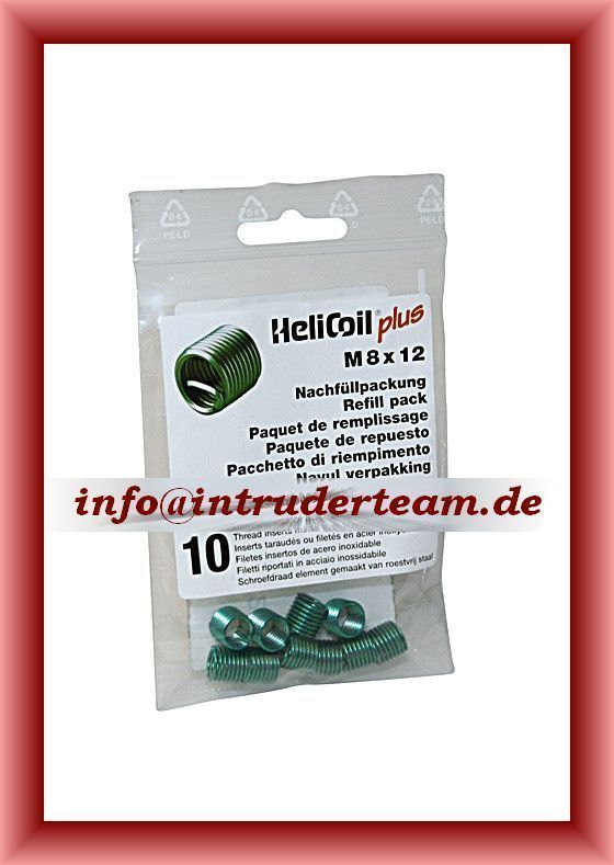 HeliCoil plus  M 8 x 1,25 x 12 mm; refill pack with 10 thread inserts