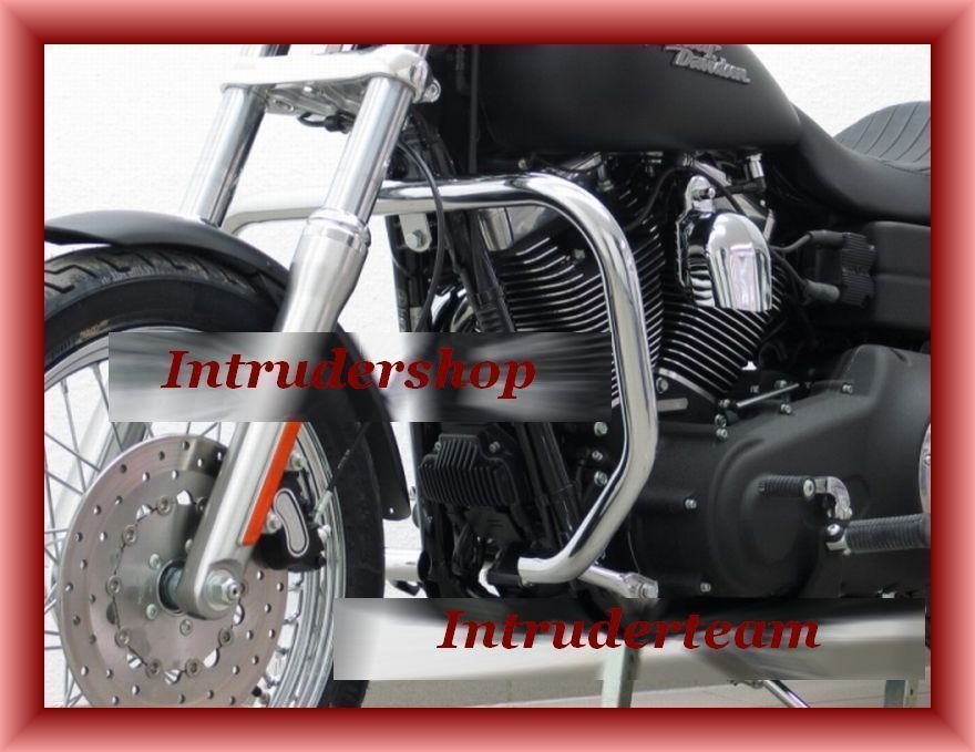 Motorschutzbügel BIG ONE 38mm Rohr eckig Form Harley Dyna Modelle 2006