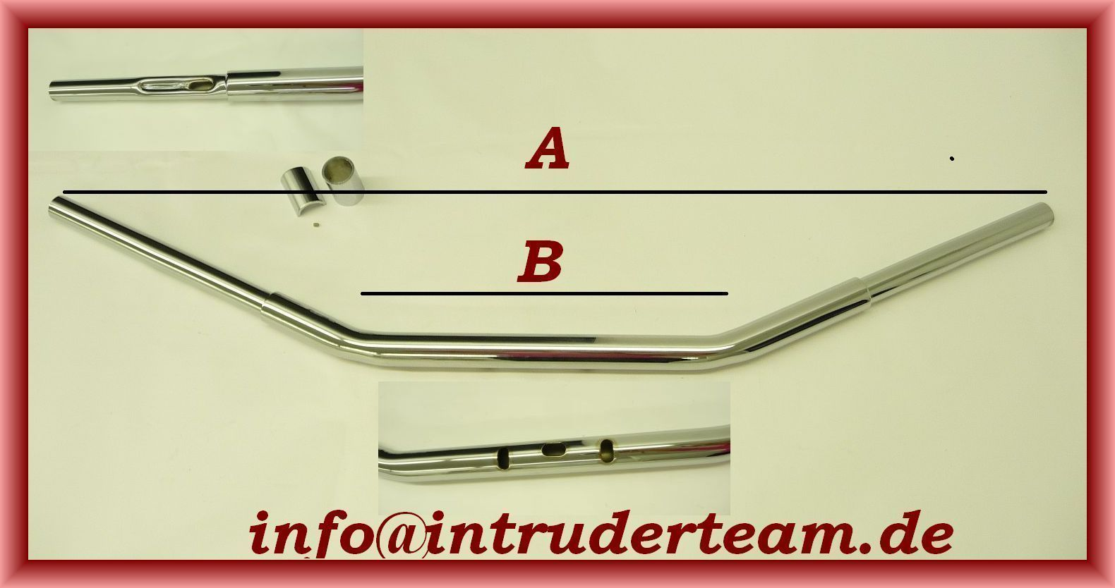 Handlebar DRAGBAR FAT chrome 1,25 inch W.97cm 5 Holes Harley