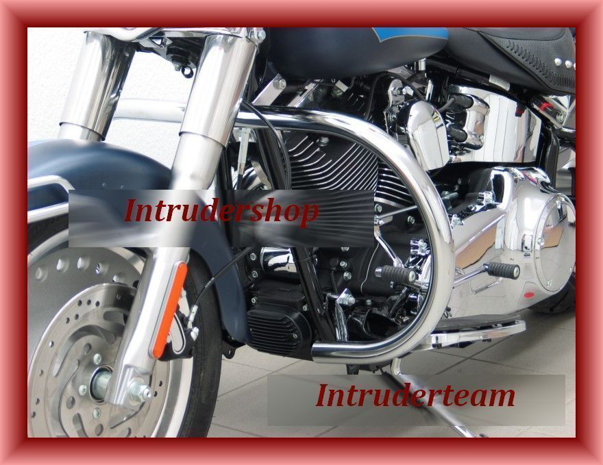 Motorschutzbügel BIG ONE rund Harley Softail Modelle ab 2007 (Twin Cam 96B)