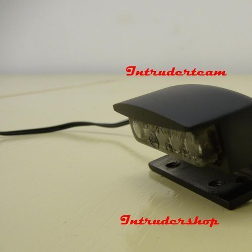 Kennzeichenbeleuchtung License Lighting Led Alu Black Intruder Harley Honda etc.