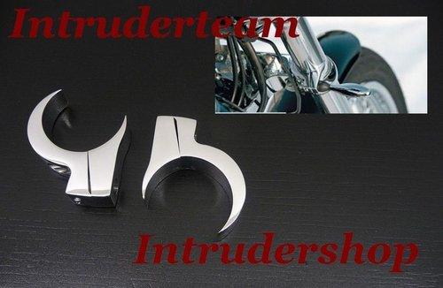 41mm Blinker Halter Halterung Befestigung Klemmen Schwarz Gabel fit Harley Dyna