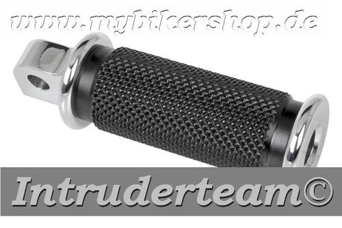 "Mini Passenger Foot-Pegs ""Base Rubber"" Alu polished"